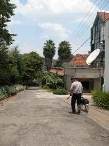 Walking toward home